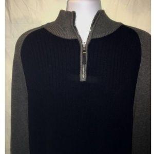 Nautica Mens XL Gray Blue Sweater
